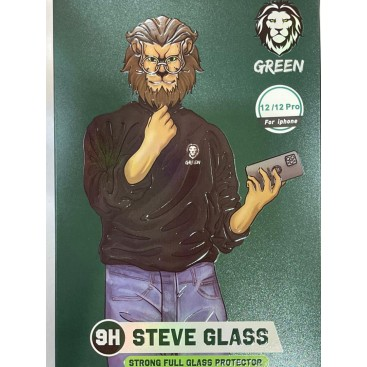 محافظ صفحه نمایش شفاف برند green مدل steve glass برای آیفون 12/12پرو